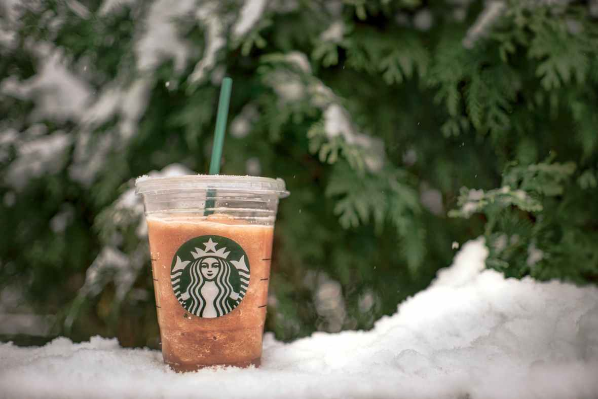 close up photo of starbucks beverage