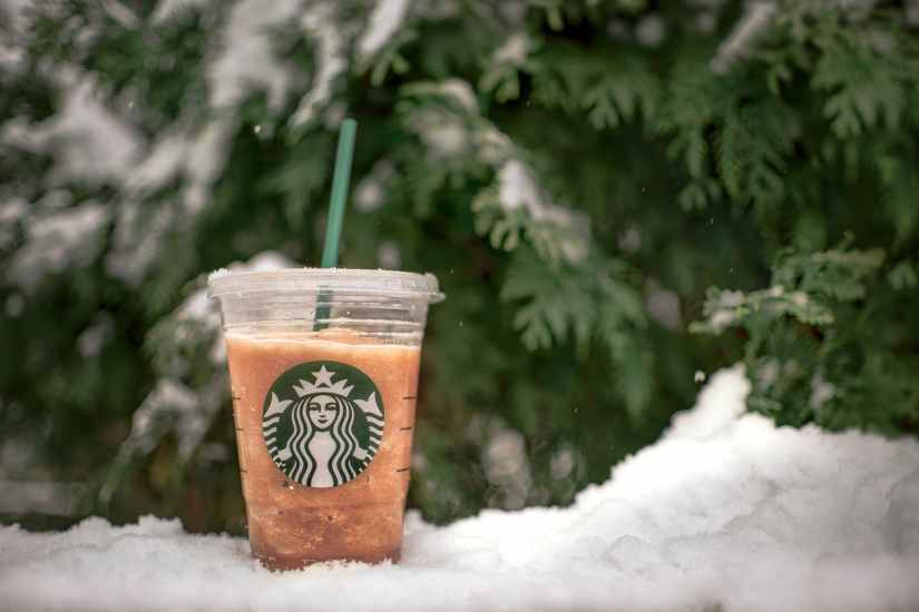 close up photo of starbucks beverage
