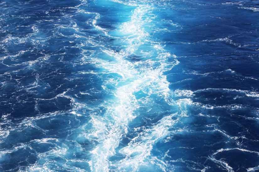 aerial photo of water waves